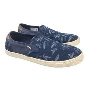 Toms Mens Baja Leaf Print Slip On Shoes